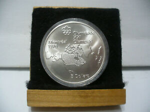 Click now to see the BUY IT NOW Price! 1976   MONTREAL  OLYMPICS SILVER 5$ COIN   CANADA  MAP OF N.A.   B.U.  STERLING