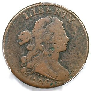 1799/8 S 188 R 4 PCGS VG DETAILS DRAPED BUST LARGE CENT COIN 1C