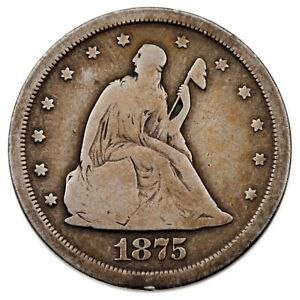 1875 S 20C TWENTY CENT PIECE IN GOOD  CONDITION FULL STRONG RIMS NATURAL COLOR