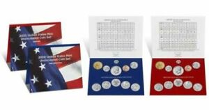 2020 P&D US MINT UNCIRCULATED COIN SET   F.D.I. SEALED SHIPPING BOX