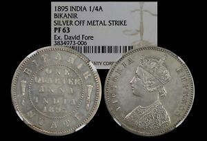 Click now to see the BUY IT NOW Price! INDIA BIKANIR PROOF 1/4 ANNA 1895 SILVER OFF METAL STRIKE NGC PF 63