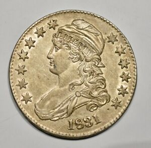 1831 CAPPED BUST HALF DOLLAR.  UNCIRCULATED.