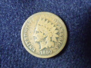 1880 INDIAN HEAD CENT PENNY GVG DETAILS   C 6