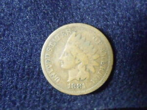 1881 INDIAN HEAD CENT PENNY VG DETAILS   C 7