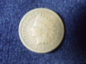 1883 INDIAN HEAD CENT PENNY VG DETAILS   C 9