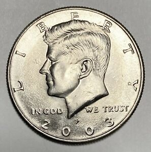 2003 P KENNEDY HALF DOLLAR 50 DOUBLE DIE OBVERSE ERROR CIRCULATED COIN  2972