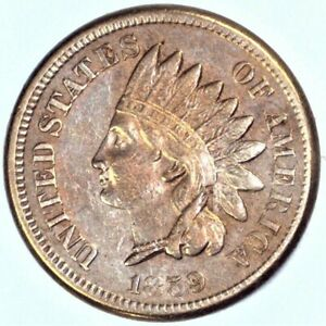 1859 INDIAN HEAD CENT A BEAUTIFUL HIGHER GRADE CIRCULATED CENT.