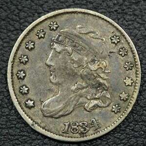 1834 CAPPED BUST SILVER HALF DIME   DAMAGE