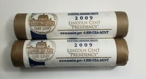 2009 P D LINCOLN PRESIDENCY CENT TWO ROLL US MINT WRAPPED SET