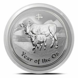 Click now to see the BUY IT NOW Price! 2009 PERTH MINT OX LUNAR COIN SERIES 2   0.5OZ 999 SILVER BULLION  B  TONING
