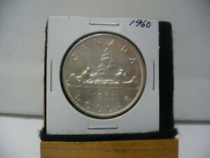 Click now to see the BUY IT NOW Price! 1960  CANADA  SILVER DOLLAR  COIN  1$  NICE GRADE  SEE PHOTOS   60  NICE GRADE