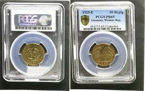 Click now to see the BUY IT NOW Price! WEIMAR 50 REICH PFENNIG 1925E SPCIMEN SUPERBE  POLI PLAQUE PCGS PR65 TOP