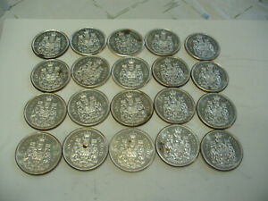 Click now to see the BUY IT NOW Price! LOT OF 20 1961  CANADA HALF DOLLAR  SILVER COINS  50 CENT PIECES