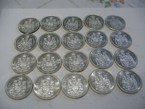 Click now to see the BUY IT NOW Price! LOT OF 20 1962  CANADA HALF DOLLAR  SILVER COINS  50 CENT PIECES