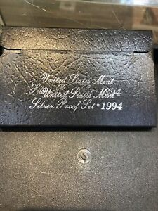 1994 SILVER PROOF SET DOUBLE STAMPED BOX COOL ERROR