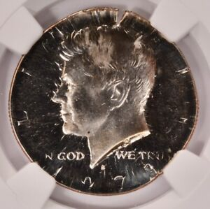Click now to see the BUY IT NOW Price! NGC 50C 1973 S PROOF KENNEDY HALF STRUCK ON QUARTER PLANCHET PF68 CAMEO