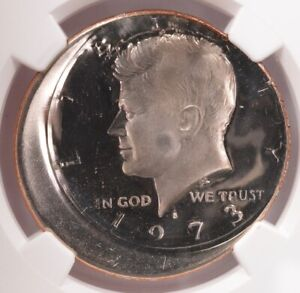 Click now to see the BUY IT NOW Price! NGC 50C 1973 S PROOF KENNEDY HALF DOUBLE STRUCK 15  OFF CENTER PF68 STAR