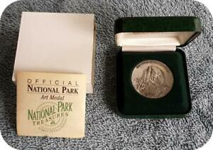 YOSEMITE NATIONAL PARK MEDAL SILVER PLATE BY FRANK GASPARRO       TDME