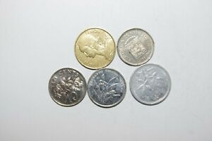 WORLD COINS GREAT GP. FROM ALLOVER LOT OF 5 COINS W/ UNC OR HIGH GRADE VALUE B73