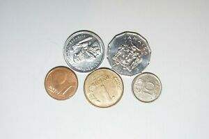 WORLD COINS GREAT GP. FROM ALLOVER LOT OF 5 COINS W/ UNC OR HIGH GRADE VALUE B3