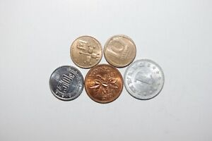 WORLD COINS GREAT GP. FROM ALLOVER LOT OF 5 COINS W/ UNC OR HIGH GRADE VALUE B24