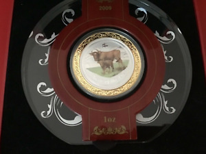 Click now to see the BUY IT NOW Price! 2009 PERTH MINT YEAR OF THE OX 1OZ SILVER GILDED COLOURED COIN
