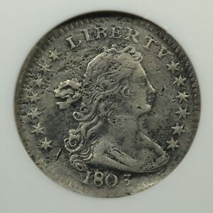 1803 DRAPED BUST SILVER HALF DIME NGC VF DETAILS