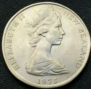 NEW ZEALAND 1973   50 CENTS UNC    COPPER NICKEL COIN    K410
