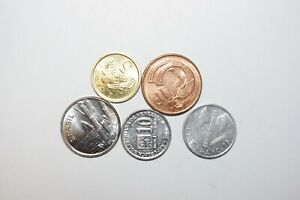 WORLD COINS GREAT GP. FROM ALLOVER LOT OF 5 COINS W/ UNC OR HIGH GRADE VALUE B11
