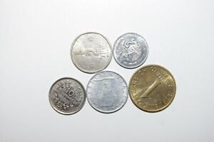 WORLD COINS GREAT GP. FROM ALLOVER LOT OF 5 COINS W/ UNC OR HIGH GRADE VALUE B19