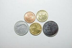 WORLD COINS GREAT GP. FROM ALLOVER LOT OF 5 COINS W/ UNC OR HIGH GRADE VALUE B30