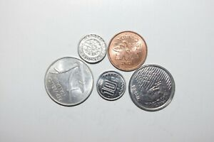 WORLD COINS GREAT GP. FROM ALLOVER LOT OF 5 COINS W/ UNC OR HIGH GRADE VALUE B32