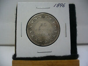 Click now to see the BUY IT NOW Price! 1896  CANADA  SILVER  HALF  DOLLAR  50 CENT PIECE  96  NEWFOUNDLAND  STERLING