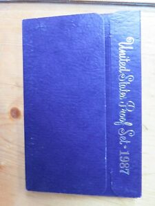 1987 US MINT PROOF SET 5 COIN SET IN ORIGINAL BOX WITH COA PURPLE