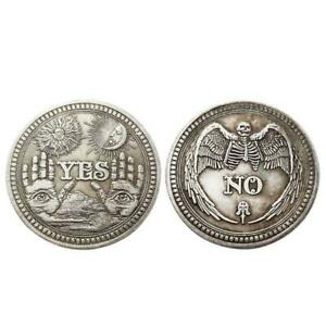YES OR NO SKULL COMMEMORATIVE COIN SOUVENIR CHALLENGE COLLECTIBLE COINS GIFT