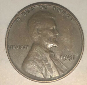 1951 UNITED STATES WHEAT PENNY