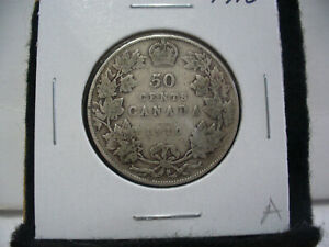 Click now to see the BUY IT NOW Price! 1910  CANADA  SILVER  HALF  DOLLAR  50 CENT PIECE   10A  NICE GRADE  SEE PHOTOS