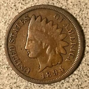 Click now to see the BUY IT NOW Price! 1894/1894 INDIAN HEAD CENT  S1 REPUNCHED DATE SNOW 1 VARIETY