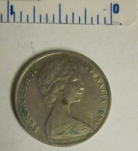 AUSTRALIA 1973   10 CENTS COPPER NICKEL COIN   LYREBIRD QUEEN ELIZABETH II