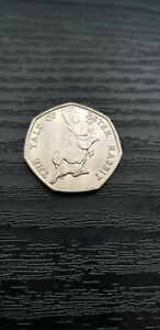 2017 PETER RABBIT.BEATRIX POTTER 50P COIN.  CIRCULATED   FREE POST