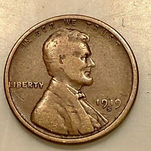 1919 S LINCOLN PENNY YOUR ACTUAL COIN IN PHOTO