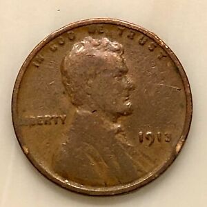 1913 LINCOLN PENNY YOUR ACTUAL COIN IN PHOTO