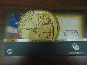 2014 UNITED STATES MINT LEWIS AND CLARK EXPEDITION AMERICAN $1 COIN  EMPTY