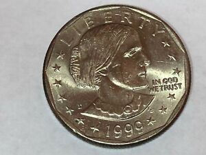 1999 D SUSAN B ANTHONY DOLLAR  MINT COIN CIRCULATED