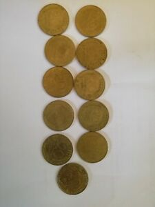 FRANCE LOT 11 DIFFERENT YEAR 20 CENTIMES COIN 1963 64 68 69 73 76 78 81 82 84 87