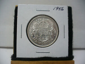 Click now to see the BUY IT NOW Price! 1956  CANADA  SILVER  HALF  DOLLAR  50 CENT PIECE   56  GOOD GRADE