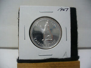 Click now to see the BUY IT NOW Price! 1967  CANADA  SILVER  HALF  DOLLAR  50 CENT PIECE   67A    GOOD GRADE