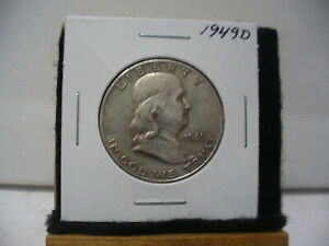 Click now to see the BUY IT NOW Price! 1949 D    BEN FRANKLIN   HALF  DOLLAR      50 CENT PIECE   COIN   49D