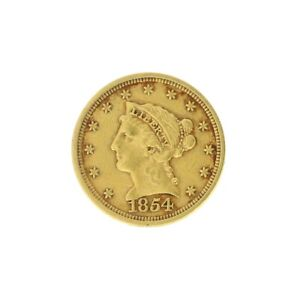 1854 $2.50 LIBERTY HEAD GOLD COIN GREAT INVESTMENT