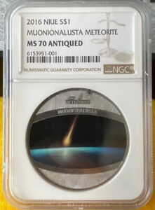Click now to see the BUY IT NOW Price! NGC MS70 NIUE 2016 MUONIONALUSTA METEORITE COIN 1OZ PROOF PURE METEORITE